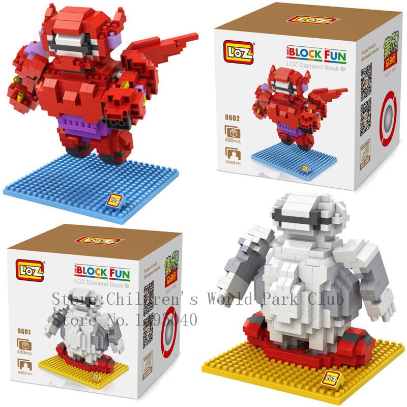 LOZ 2015 New 2styles Big hero 6 Baymax Models & Building Toy Self-Locking Bricks Kids Intelligence Model Building Kits(China (Mainland))