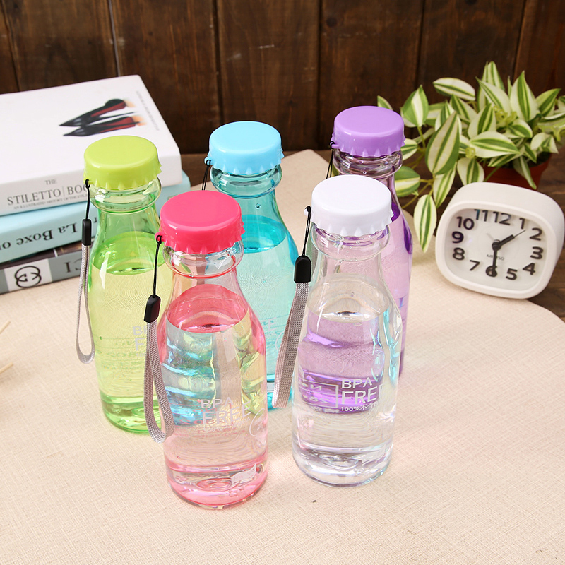 550ml Water Bottle Portable Leak-Proof Bike Sports Unbreakable Plastic Bottles Durable Cycling Camping - ONE IS ALL store