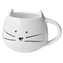 FS Hot Coffee Cup Black Cat Animal Milk Cup Ceramic Lovers Mug Cute Birthday gift Christmas