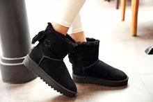 Las Mujeres coreanas de las señoras Planos del Talón Arco Tie Suede Botas de Nieve Del Tobillo Zapatos Casuales Plus Sz B02(China (Mainland))