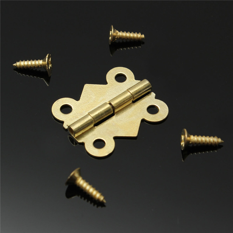 Best Promoiton 10pcs Fashion Design Brass Color Mini Butterfly Hinges Cabinet Drawer Jewelry Box DIY Repair(China (Mainland))
