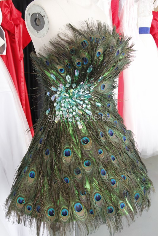 Peacock Feather Cocktail Dress Peacock Feathers Cocktail