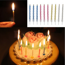 10pcs Magic Relighting Candle Relight Birthday Party Fun Trick Cake Joke Gift(China (Mainland))