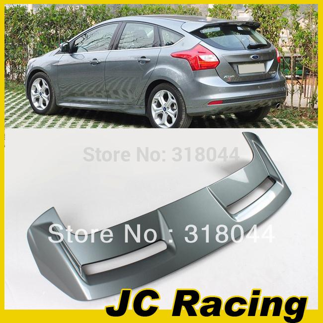 ABS Grey Painted ST Style Auto Car Rear Wings, Trunk Lip Spoiler For Ford Focus 12-13 (Fits For 12-13 Focus Hatchback )(China (Mainland))