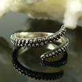 Tentacle Ring Band Octopus Ring Seductive Tentacle Ring in Rose Gold Ancient Silver Plating Octopus adjustable