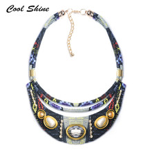 Buy 2016 New Fashion Women Bohemia Necklaces Pendants Multicolor Statement Choker Necklace Za Crystal Flower Ethnic Boho Jewelry for $7.74 in AliExpress store