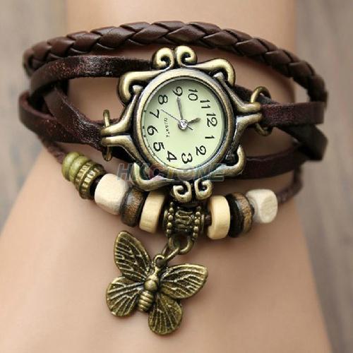 7 Colors Original High Quality Leather Bracelet Style Digital Watch Fashion Lady Women Quartz Wrist Watch Watches SY022(China (Mainland))