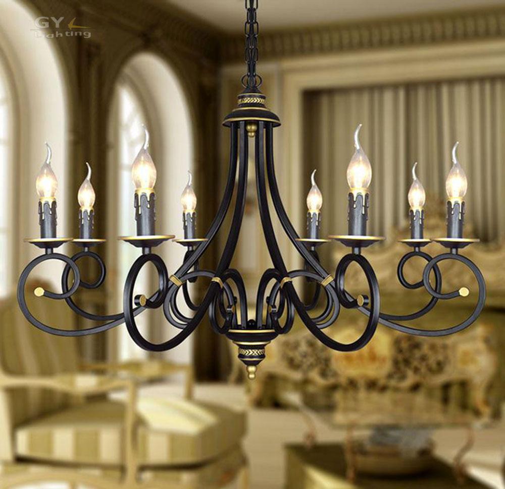 ac100 240v lustres wrought iron pendant light fixture. Black Bedroom Furniture Sets. Home Design Ideas