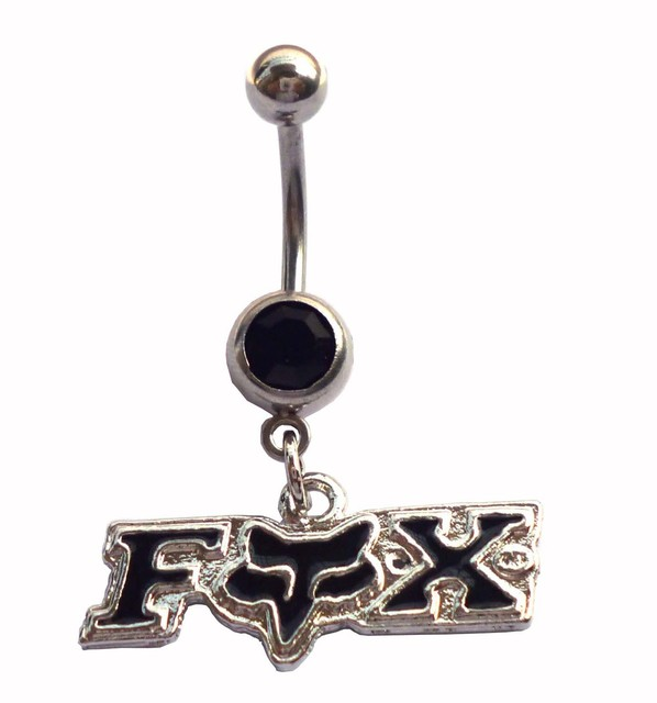 Fox body piercing jewelry  stainless steel (2PC/lot) Dangle fox Belly Button rings