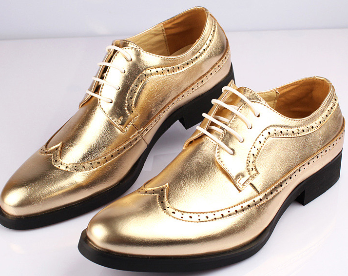 Mens Gold Colored Dress Shoes