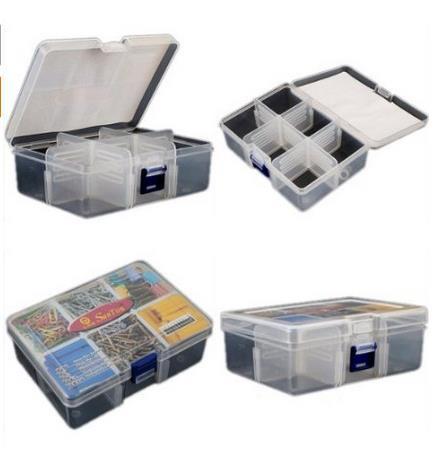 Mini Travel Portable Plastic Storage Organizer Box 6 Compartment Beads Watch Jewellery Tool Case Box(China (Mainland))