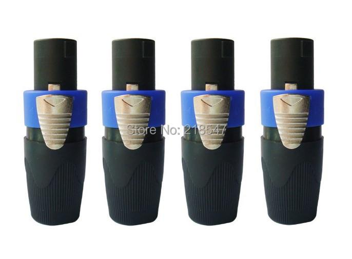 4pcs / lot High Quality Speakon 4 Pin Plug Male Audio Speaker Connectors Adapter(China (Mainland))