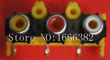 50pcs/ AV with the core socket three Cinch 3 female RCA jack socket AV3-14 DVD(China (Mainland))