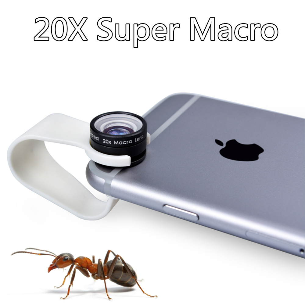 Clip 20X Macro lens Mobile Phone Camera Lens for iPhone 6 6plus 5S 4S for Samsung Galaxy S3 Professional Super Macro 20X lenses(China (Mainland))