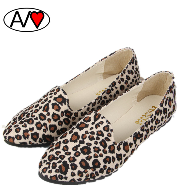 New 2014 Fashion Spring Autumn Leopard Print Flat Shoes Women Single Shoes Nurse Shoes For Mother Or Pregnant Woman<br><br>Aliexpress