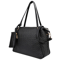 2016 New Women Casual Street Messenger Black Lingge Large Female Bag Top handle Bags Ladies Designer