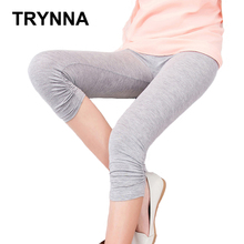 TRYNNA Women Candy Color Girl Summer Knee Length Legging Plus Size Elastic Cotton Legging(China (Mainland))