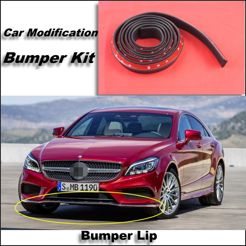 Bumper Lip Mercedes Benz CLS MB W218 W219 Front Spoiler Skirt / Bumper Kit / Deflector Lips Car Scratch Proof Adhesive Strip
