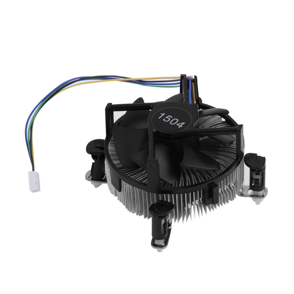 1pc CPU Heat Sink Aluminium for Intel Socket Base 775 Fan Heatsink Cooler Cooling with 7 fan blades For PC Computer 12V 2.4W(China (Mainland))