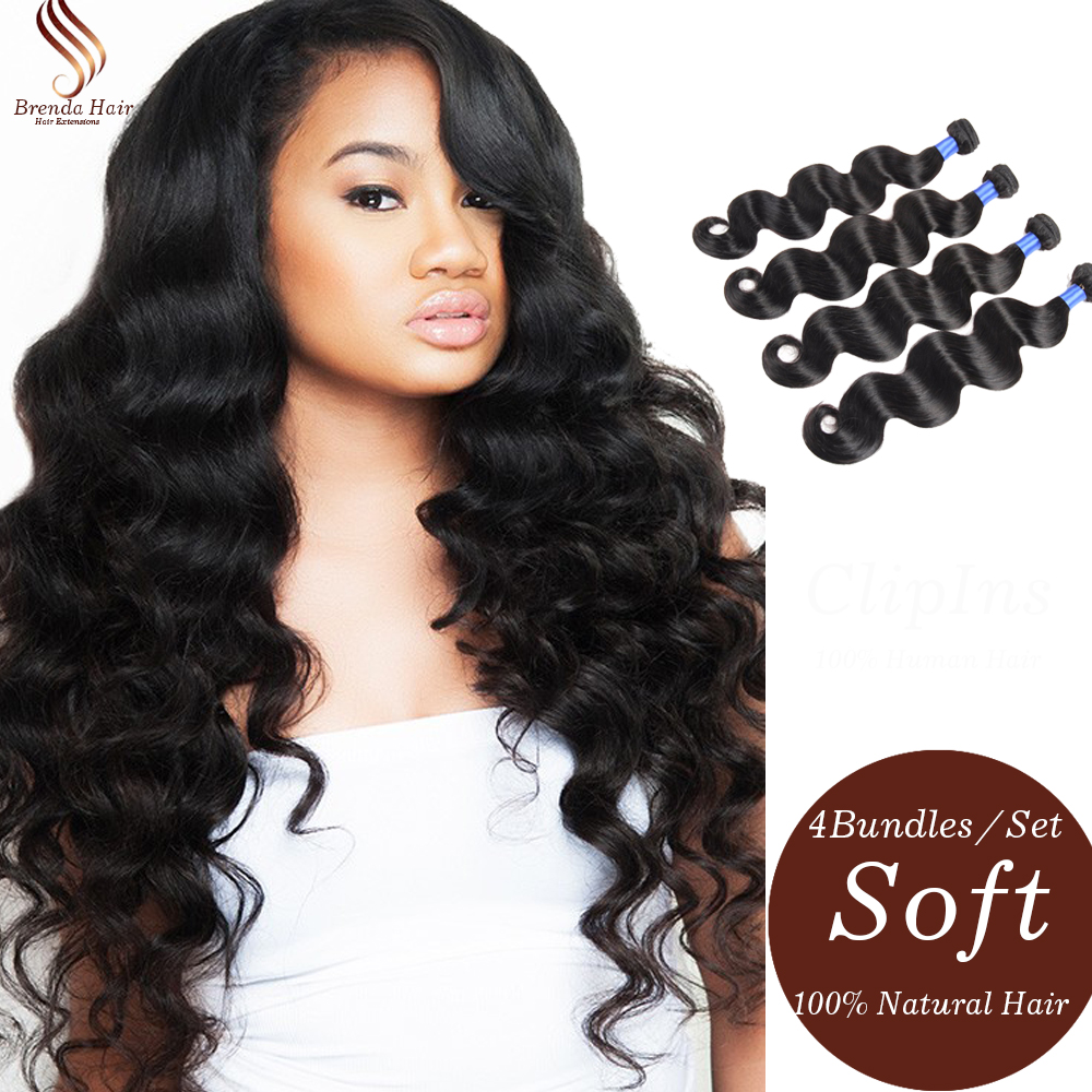 Unprocessed New Brazilian Virgin Hair Weave Bundles Cheap 6A Brazilian Body Wave Hair 4 Bundle Soft And Smooth Full Cuticle Hair(China (Mainland))