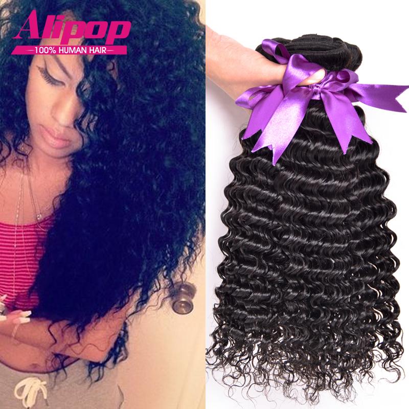8A Brazilian Virgin Hair Deep Wave 4 bundles Weave Bundles Remy Human Thick ends - Kiss Queen Products Co., Ltd. store
