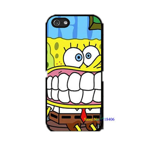 Sponge Bob Square Pants Spongebob Squarepants cell phone case cover for iphone 4 4s 5 5s 5c SE 6 6s & 6 plus 6s plus #5134an(China (Mainland))