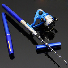 Pen style With fishing reel  fishing rod High quality Carbon Fishing Tools1.4M Rock Short Style Fishing Rod HG191