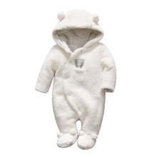 Новорожденных детская одежда медведь onesie девочка мальчик детский комбинезон с капюшоном плюшевые комбинезон зимние комбинезоны для детей roupa infantil menina(China (Mainland))