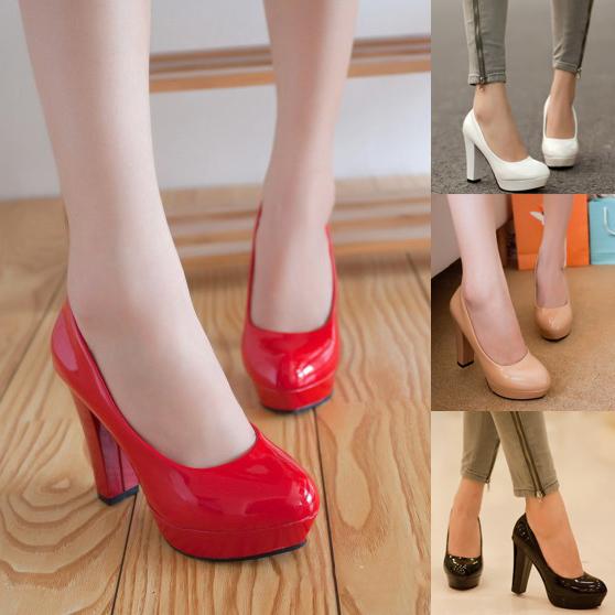 Womens Chunky Heels
