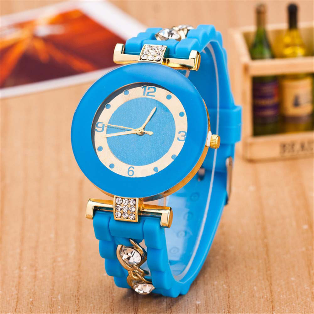 New 2015 fashion casual watches women silicone quartz watch children kid cute bear pattern cartoon wristwatch montre femme pink