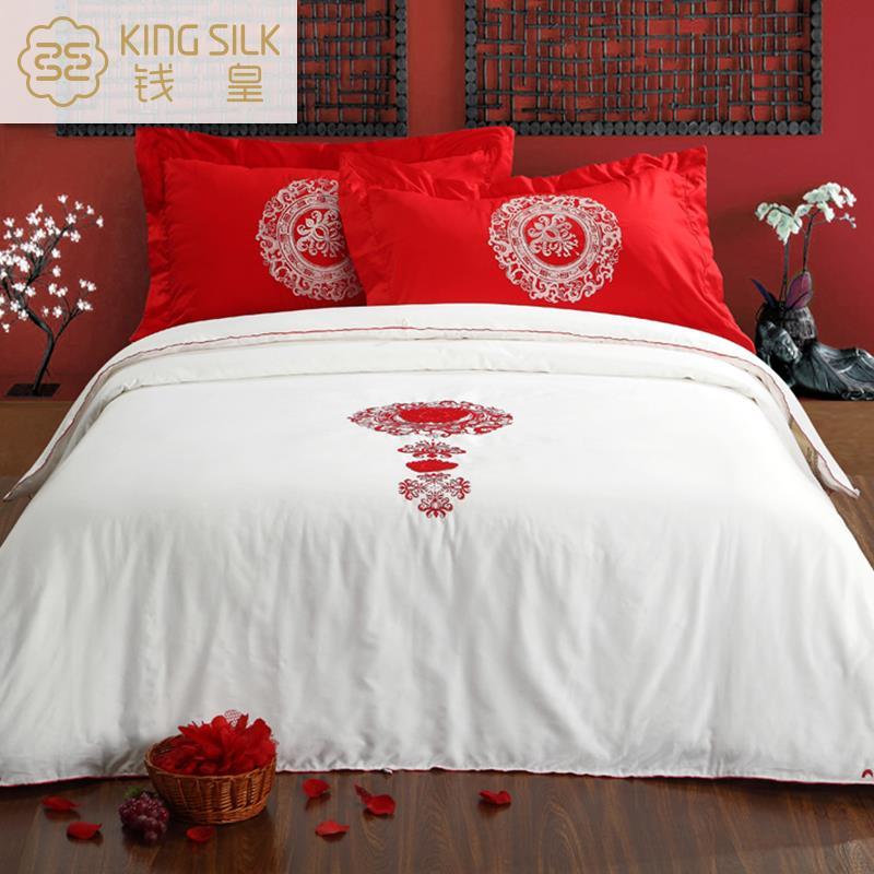 Wedding Bedding Comforter Set Silk Quilt Comfort Embroidery Home Textile Printed Bride Silk Blanket Comforter 100% Cotton XLM(China (Mainland))