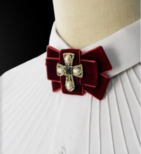 Korean men cross tie high-end fashion pearl wedding tie series(China (Mainland))