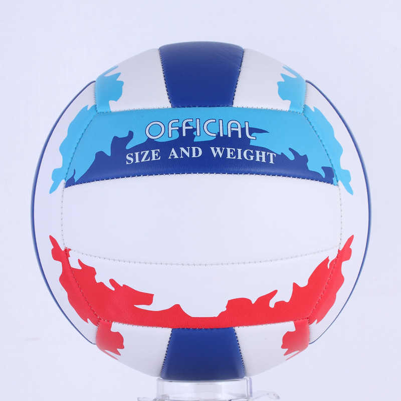 New Free shipping Volleyball Beach Volleyball PVC Training VolleyBall Hot Sale blue red with White Volleyball(China (Mainland))
