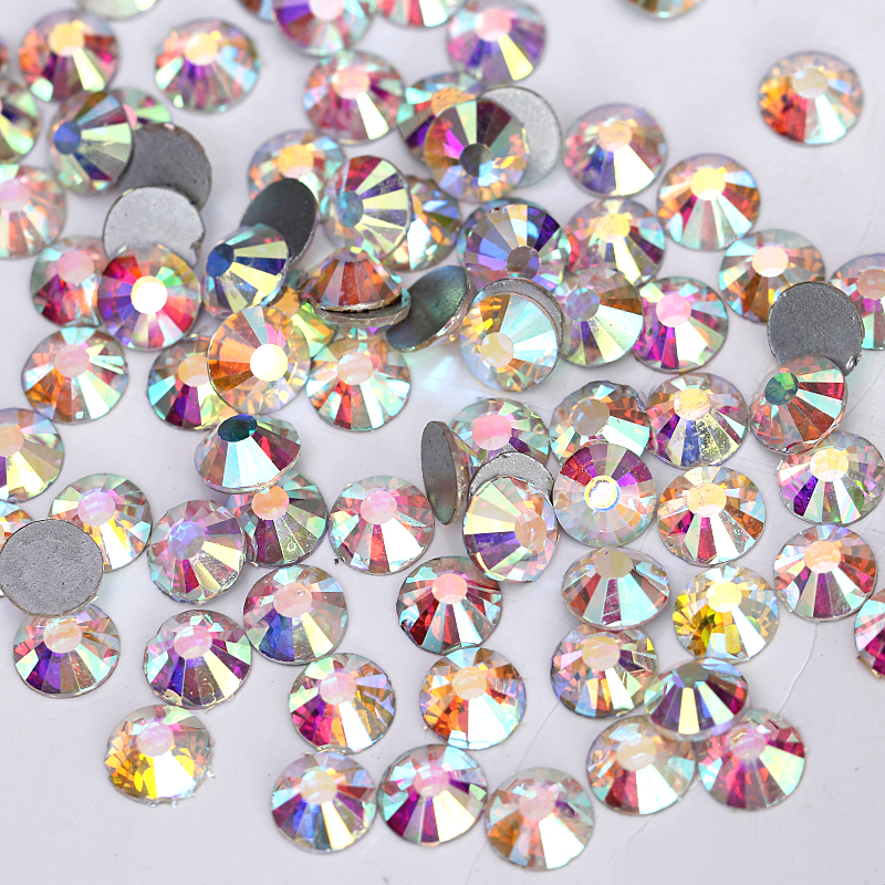 Nail Art Rhinestone crystal AB color SS3 (1.3-1.5mm) flatback non hot fix rhinestones DIY nails decoration crystal stones Y2801(China (Mainland))