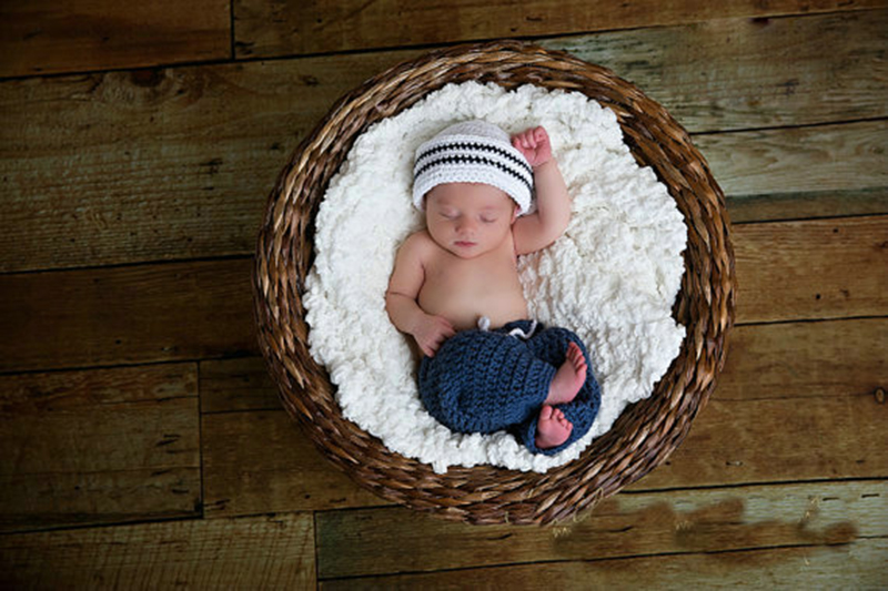 Baby Unisex Super Cute Newborn Sailor Hat Pants Striped Cosplay Baby Photography Prop Handmade Crochet Knitted Costume Baby Gift(China (Mainland))