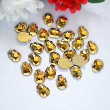 Buy 3D Nail Art Strass Crystal Rhinestones Mine Gold Non Hotfix Crystals 6*8mm 10pcs Skull head Stones DIY 3D Gem decoration for $1.49 in AliExpress store