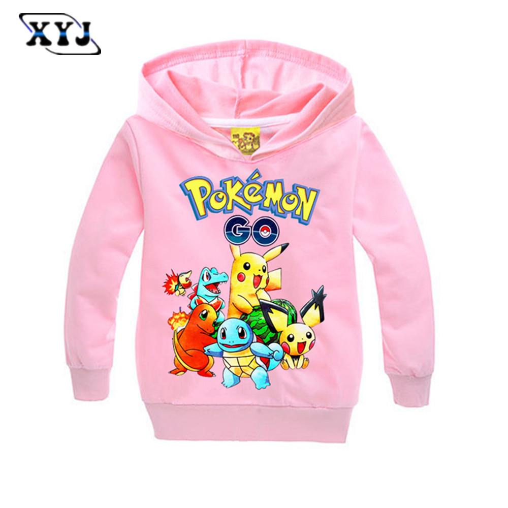 New pokemon go cartnon boys girls clothes children t for Newborn girl t shirts
