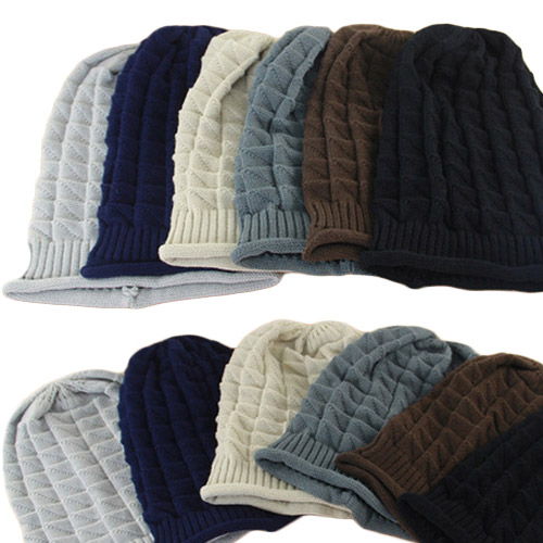 2015 Crochet Beret Braided Baggy Beanie Casual Hat Ski Cap for Women Lady Fashion Multi-color Winter Beanies(China (Mainland))