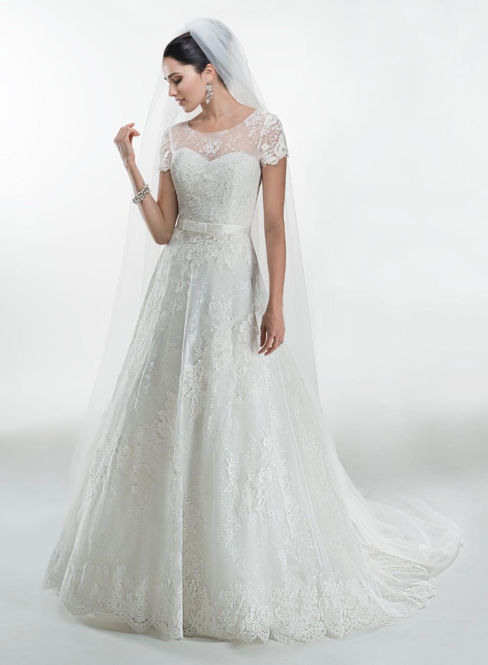 New design brides gowns western style high end a line for High end designer wedding dresses