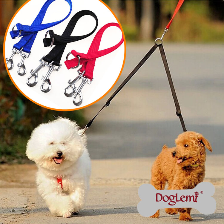 2016 Pet Dog Nylon Leash Tow-headed Dog Harness Leash Width 1.5, 2, 2.5cm Puppy Dog Leash Useful Pet Accessories Pet Leash PY859(China (Mainland))