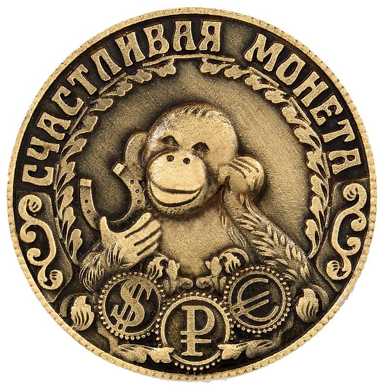 Гаджет  2016 Unique design monkey coins replica russian the new year gift and souvenirs Christmas decoration supplies attracts money None Дом и Сад