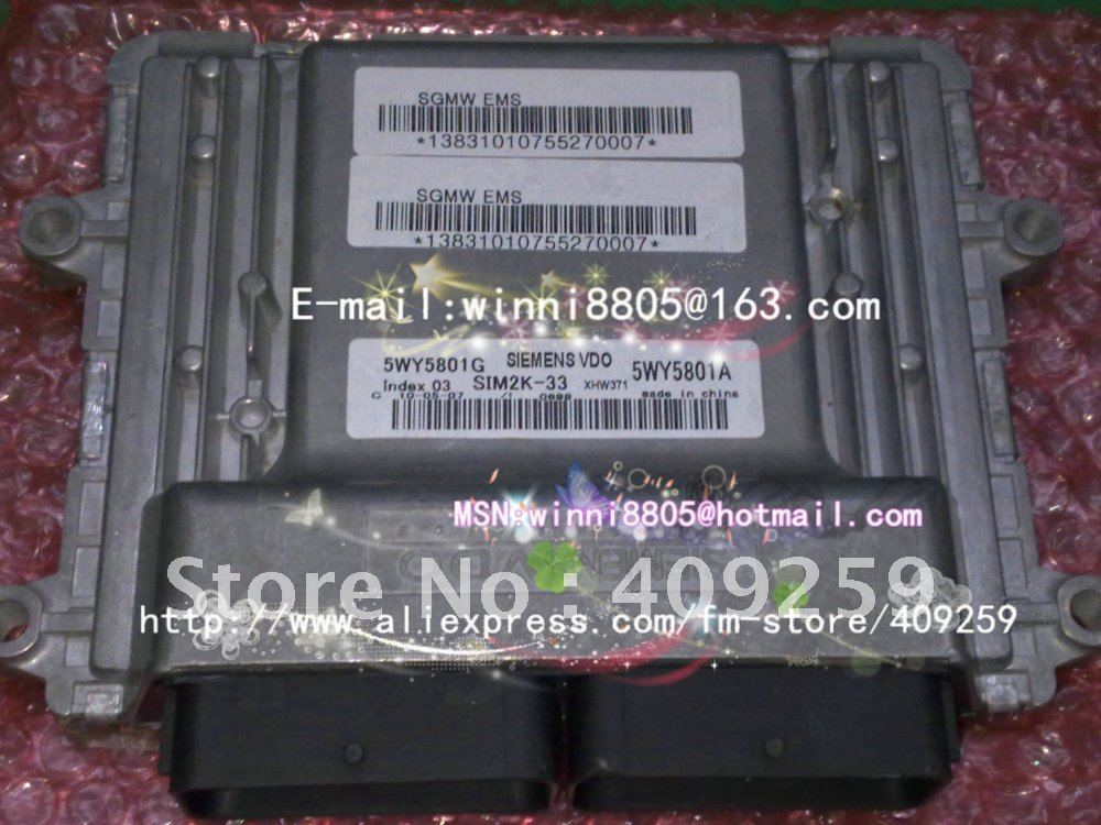 Siemens system ECU(Electronic Control Unit)/ Wuling Light automotive engine computer board / 5WY5801G/5WY5801A(China (Mainland))