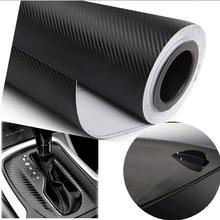 127cmX30cm 3D Carbon Fiber Vinyl Film Car Accessories Motorcycle Carbon Fibre Car Wrap Sheet Roll Film Sticker Decal Car Styling(China (Mainland))
