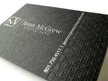 Дизайн типографская печать визитная карточка серебряная фольга штамповка 600gsm имя карта 90 * 54 мм черный особое бумага визитки