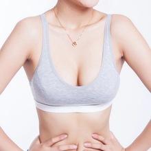 Fashion Women 100 Cotton bust Push Up Sports Bra Underwear Bra 70 75 80 85 Size