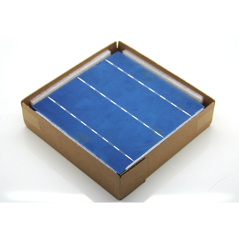 20 Pcs 4 2W A Grade 156MM Photovoltaic Polycrystalline Solar Cell 6x6 For PV Solar Panel