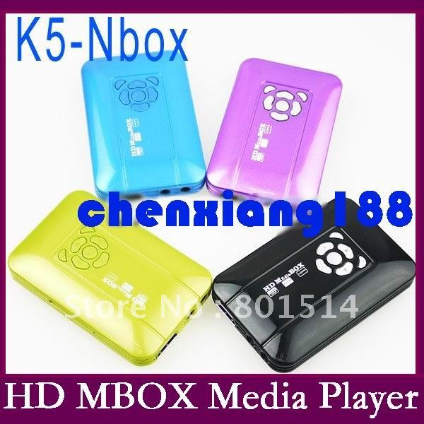 Consumer Electronics 10pcs/lot K5 Mini Full HD1080P HD MBOX Media Player Flash play System Movie Box Portable High Definition(China (Mainland))