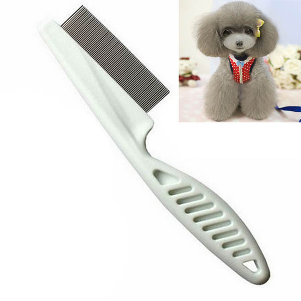 Best Selling 2 pieces/lot Pet Dog Hair Flea Comb Cleaning Tool Stainless Pin Puppy Cat Grooming Brush Comb(China (Mainland))