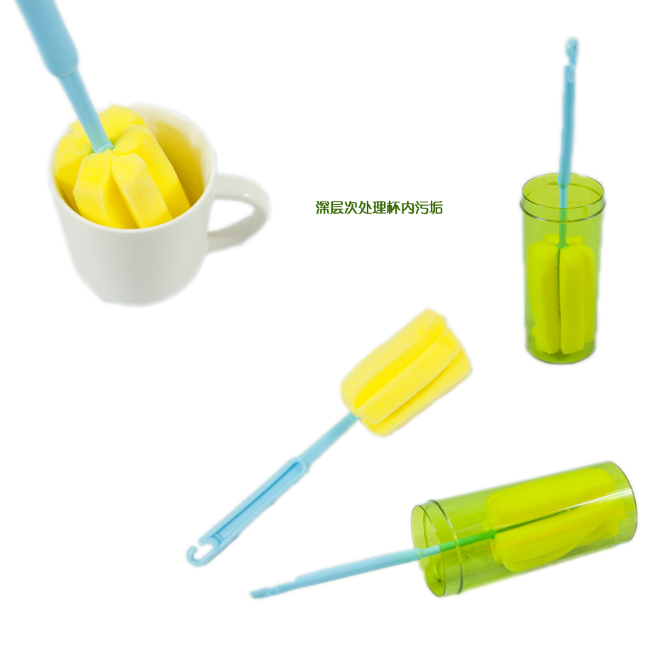 Easy to clean and durable cup cup sponge brush to scrub clean glass without leaving brush marks Daibing(China (Mainland))