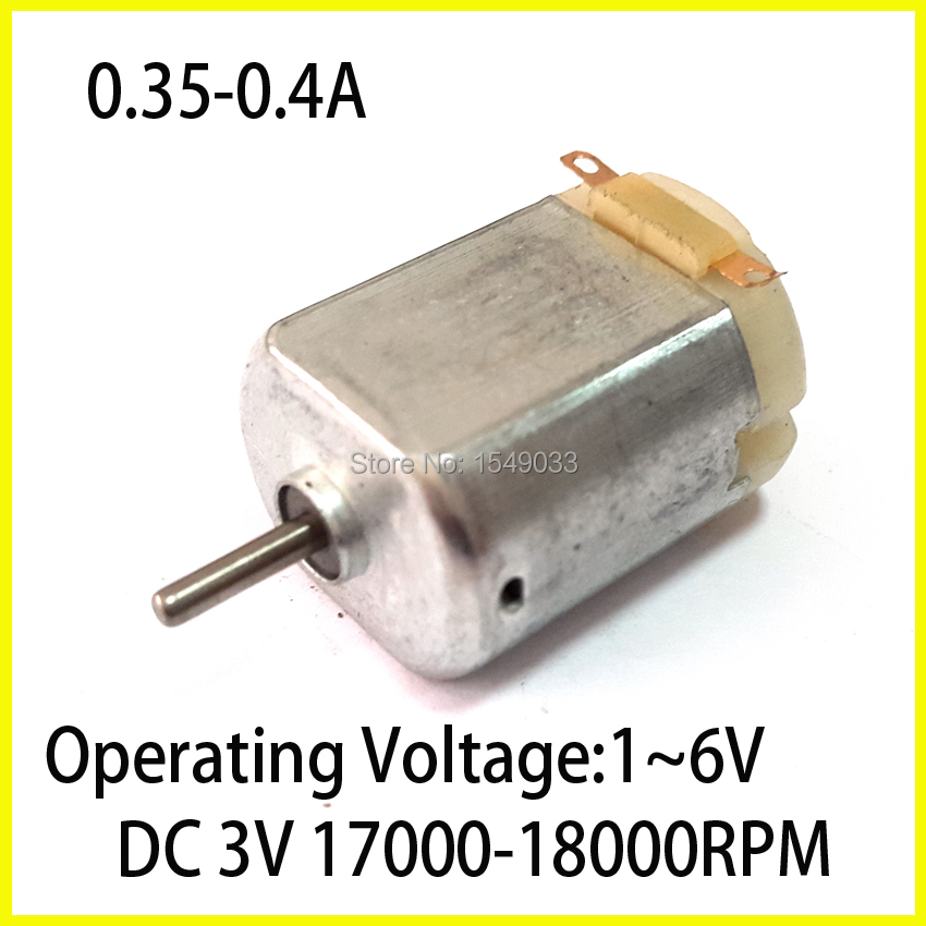 sell well New 10pcs DC 3V 17000RPM High speed motor Low torque Please give star reviews Toy motor Brushed DC 1V to 6V motors(China (Mainland))